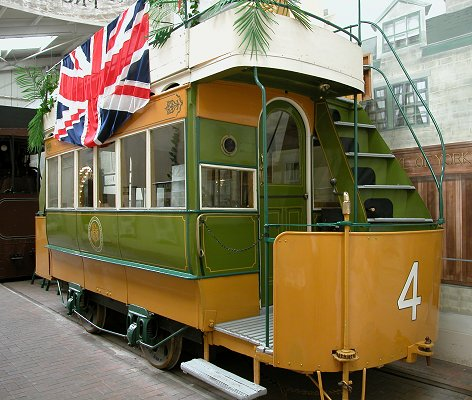 another view of the tram at crich